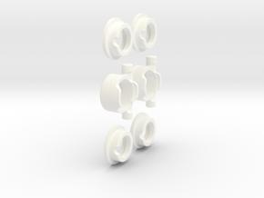 E/T-MAXX 1/8 Hybrid DIFF KIT (Front&Rear) - RPM in White Processed Versatile Plastic