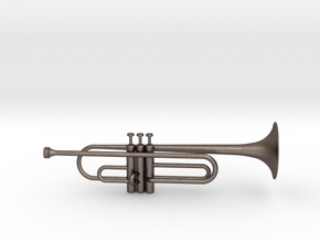 Trumpet Pendant in Polished Bronzed Silver Steel