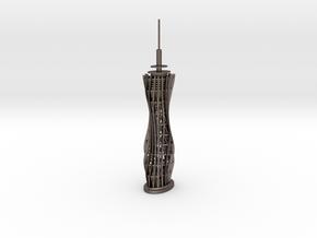 Pyramidenkogel Tower (single-part model) in Polished Bronzed Silver Steel