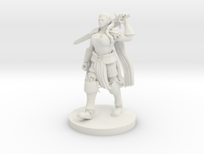 Goliath Female with Greatsword in White Natural Versatile Plastic