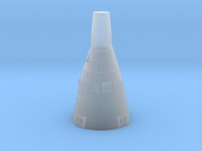 Gemini Capsule 1:128 scale in Smooth Fine Detail Plastic