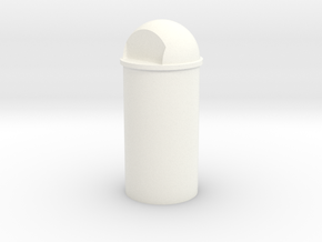 1/35 Trash Can #3 Round Single MSP35-038a in White Processed Versatile Plastic