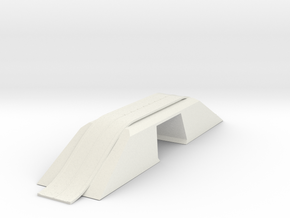 Modern Bridge Double with Road N Scale in White Natural Versatile Plastic