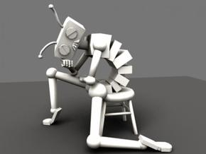 Depressed Robot in White Strong & Flexible