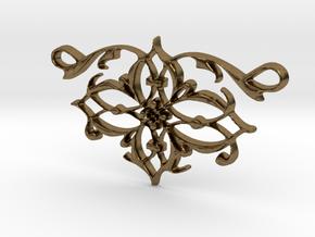Elegant Vintage Classy Pendant Charm in Natural Bronze