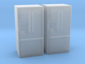 3-Door French Door Refrigerator 1-87 HO Scale in Smooth Fine Detail Plastic