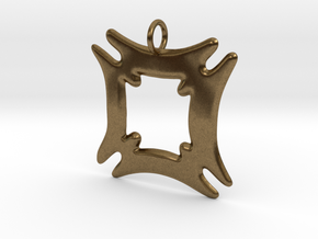 Hafinkra - Security and Safety Pendant in Natural Bronze
