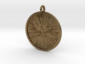 Star Zoom Pendant in Natural Bronze