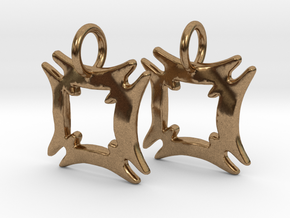 Hafinkra Charms (pair) in Natural Brass