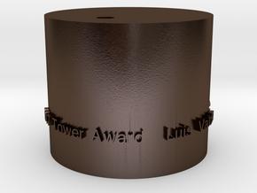 Luis Valdez Base - New Test in Polished Bronze Steel