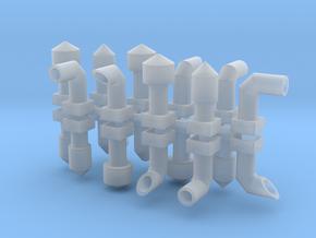 Dachlüfter Set1 alt 20 Teile 1:120 in Smooth Fine Detail Plastic