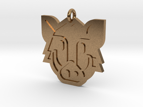 Boar Pendant in Natural Brass