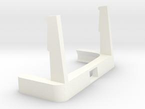Moto G5 Plus Portrait Stand / Car Mount in White Processed Versatile Plastic