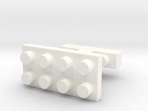 SCULP® Lego Sculpture Classic Cufflinks Rectangle in White Processed Versatile Plastic