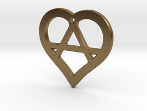 The Wild Heart (precious metal pendant) in Natural Bronze