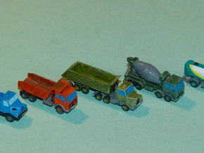 Construction Site Trucks 2 1/285 in Smooth Fine Detail Plastic