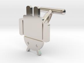 Droidbot Cufflinks in Rhodium Plated Brass