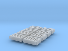 HO Scale 8 Rectangluar drain basin  in Frosted Ultra Detail