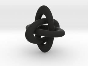 Brunnian Link in Black Natural Versatile Plastic