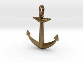 Ship anchor in Natural Bronze