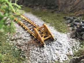 Buffer stop N scale in Smooth Fine Detail Plastic