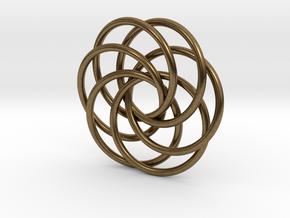 Interlocking Loops Pendant in Natural Bronze