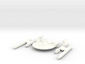 Audacious Class Heavy cruiser in parts in White Processed Versatile Plastic