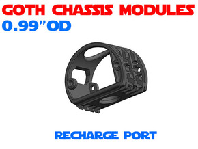 GCM099 - Recharge port chassis in White Natural Versatile Plastic