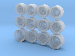 BBS Mesh Wheelset for Hot Wheels in Smoothest Fine Detail Plastic