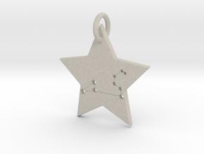 Leo Constellation Pendant in Natural Sandstone