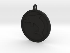 Dolphin Pendant in Black Natural Versatile Plastic