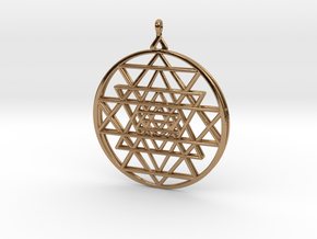 2.5D Sri-Yantra  6.3cm (All Metals) in Polished Brass