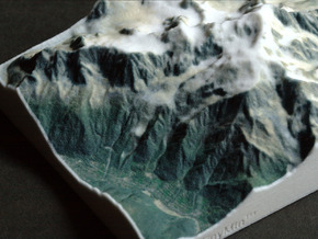 Mont Blanc, France/Italy, 1:150000 Explorer in Full Color Sandstone