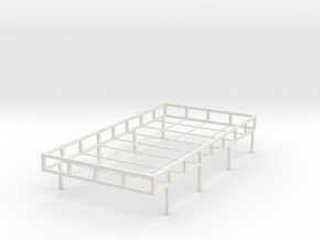 """1:24th scale roof rack for 109"""" Land Rover in White Natural Versatile Plastic"""