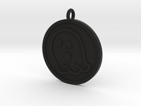 Ghost Pendant in Black Natural Versatile Plastic