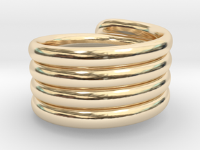 Coiled Ring  Size 10 in 14K Yellow Gold