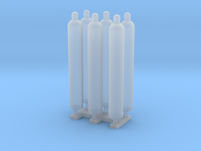 1:48 Gas Cylinders Pack of Six.  in Frosted Ultra Detail