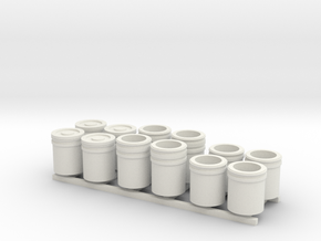 1:50 5 Gallon buckets Pack of Twelve.  in White Natural Versatile Plastic
