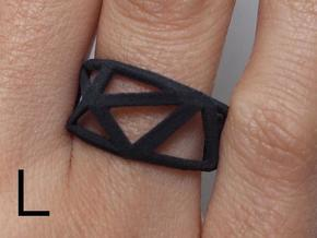 Comion ring large in Black Natural Versatile Plastic