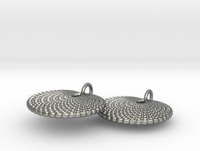 Peacock earrings in Natural Silver