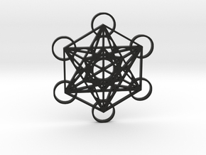 Metatrons Cube in Black Natural Versatile Plastic