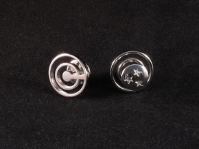 Dragon Ball - Capsule Cufflinks - V3 in Rhodium Plated Brass
