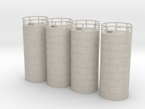 N Scale Chemical Tank 4pc in Natural Sandstone