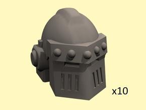 28mm Astrowarrior M3 helmets in Smoothest Fine Detail Plastic