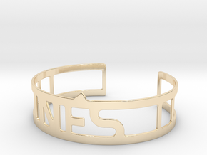 Cuff bracelet with name in 14K Yellow Gold