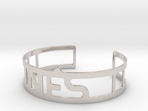 Cuff bracelet with name in Platinum