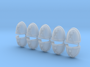 Skull Hourglass Mk7/8 Shoulder Pads #1 in Smooth Fine Detail Plastic