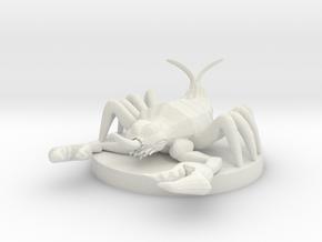 Cave Fisher in White Natural Versatile Plastic
