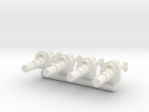 6mm Weapon Sprue E in White Natural Versatile Plastic