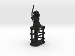 Rook / Turm in Black Natural Versatile Plastic